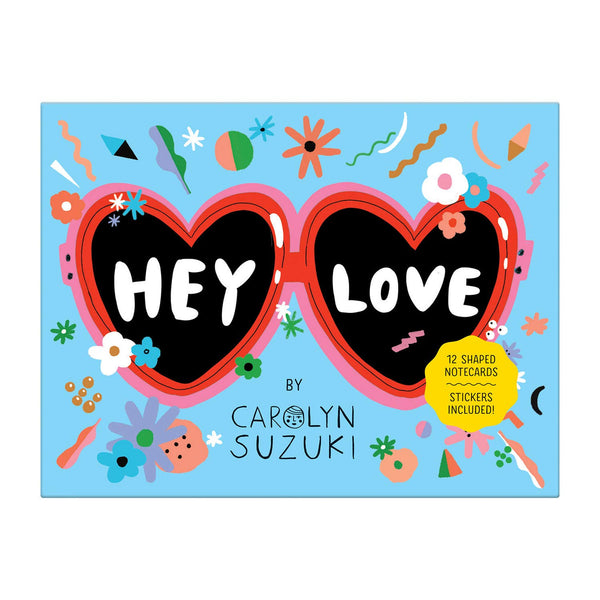 HEY LOVE - Shaped Stationery Set