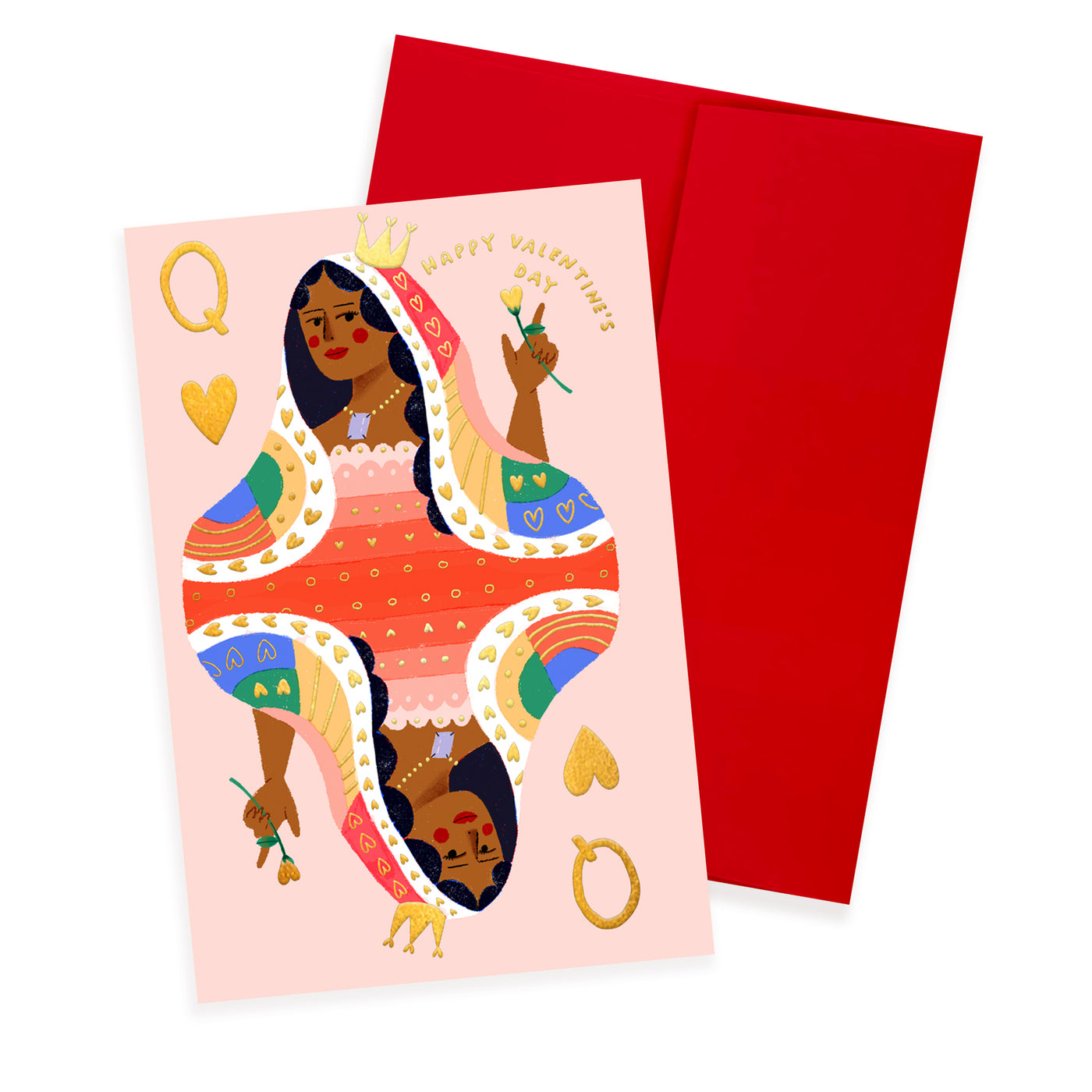 QUEEN OF HEARTS - Valentine Card