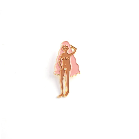 Natural Woman - Tan - Enamel Pin