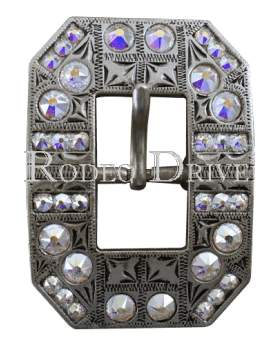 Antique Silver AB Antique Silver European Crystal Square Cart Buckle ASSQAB