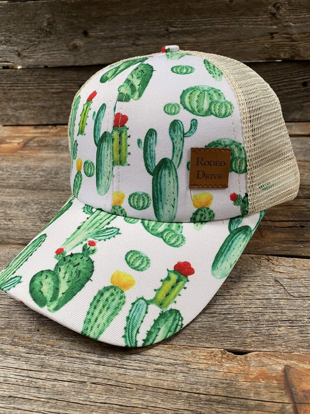 Hats Prickly Cactus Ponytail Trucker Hat HT101 HT101