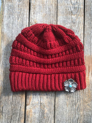 Hats Red Ponytail Beanie RBW110 RBW110