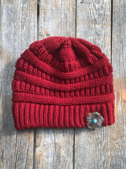 Hats Red Ponytail Beanie RBW111 RBW111