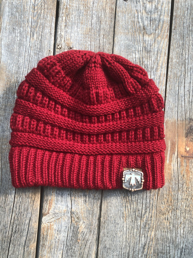 Hats Red Ponytail Beanie RBW116 RBW116