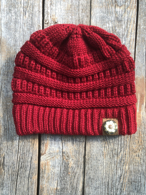 Hats Red Ponytail Beanie RBW125 RBW125