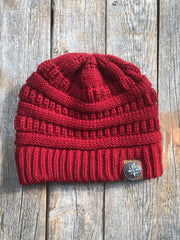 Hats Red Ponytail Beanie RBW138 RBW138