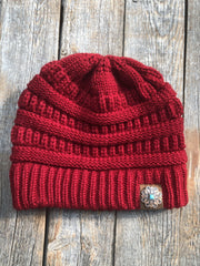Hats Red Ponytail Beanie RBW141 RBW141