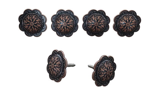 Western Conchos Copper Scalloped Saddle Set W117SS W117SS