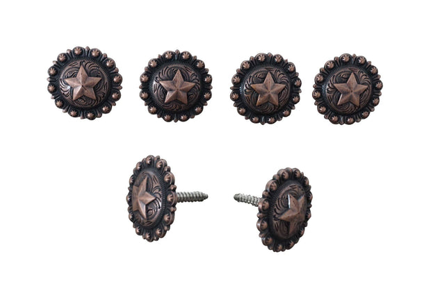 Western Conchos Copper Star Saddle Set  W175SS W175SS