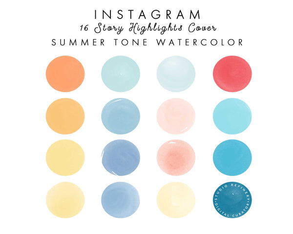 16 Summer Watercolor IG Highlights