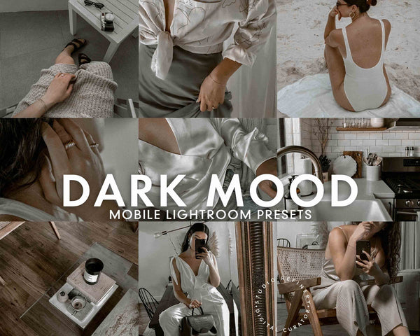 5 DARK MOOD Lightroom Mobile Presets