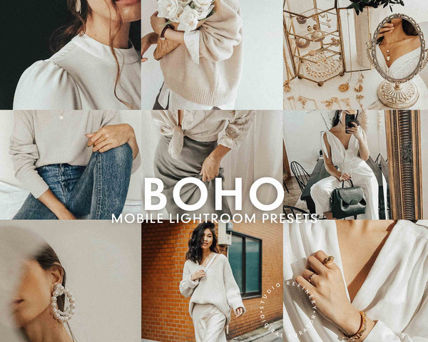 5 Lightroom Presets BOHO for Mobile Lightroom