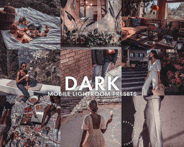 5 Lightroom Presets DARK for Mobile Lightroom