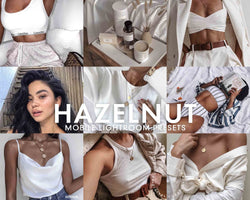 5 Lightroom Presets HAZELNUT for Mobile Lightroom