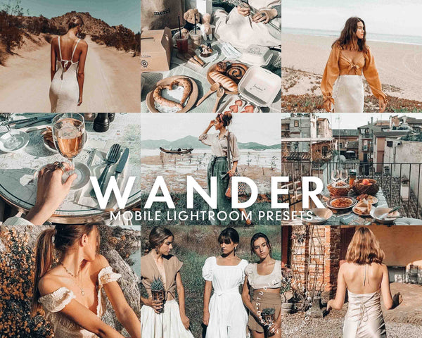 5 Lightroom Presets WANDER for Mobile Lightroom