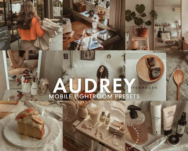 5 Lightroom Presets AUDREY for Mobile Lightroom