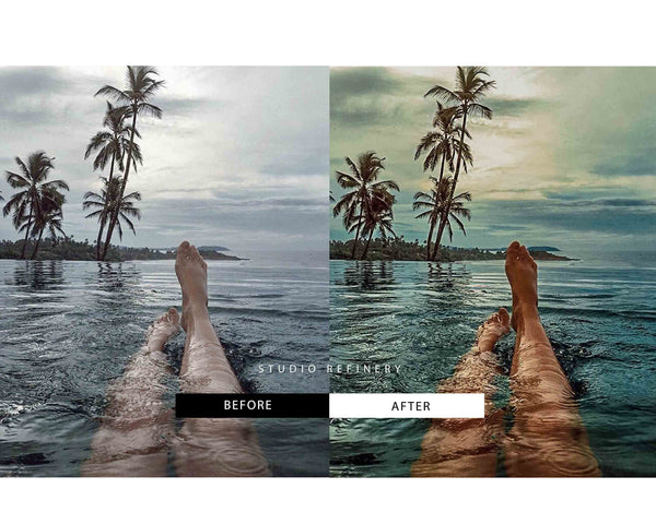 5 Lightroom Presets BEACH for Mobile