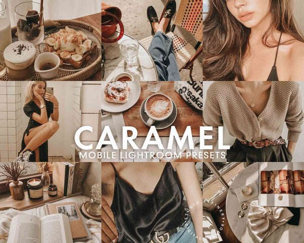 5 Lightroom Presets CARAMEL for Mobile Lightroom