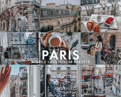 5 Lightroom Presets PARIS for Mobile Lightroom