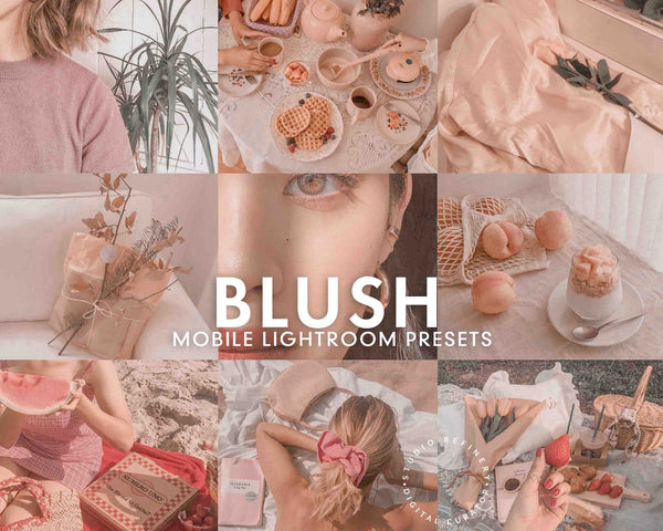5 Lightroom Presets BLUSH for Mobile Lightroom