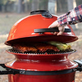 View image Ribs and corn in Kettle Joe Grill using the SlōRoller™