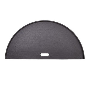 Smooth side of the Half Moon Cast Iron Reversible Griddle