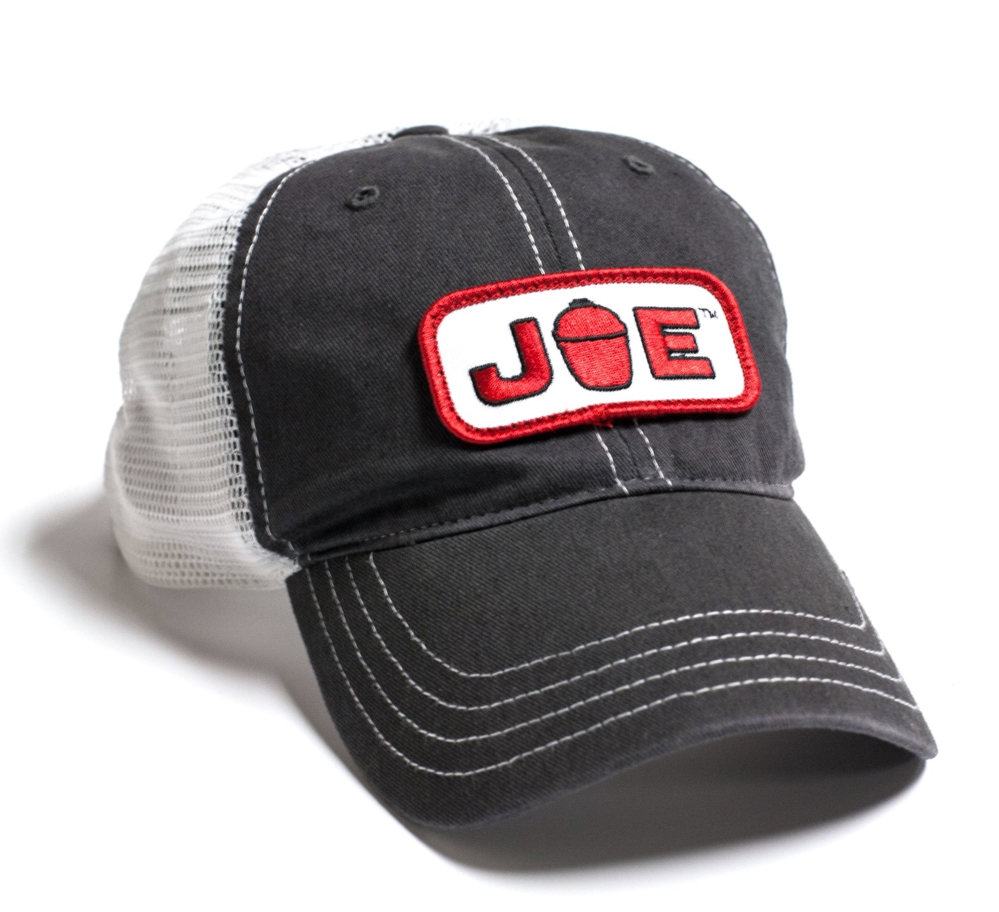 Mesh Back Joe Hat-  Charcoal/White