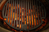 View image The Kamado Joe® Sear Plate heating up on a Kamado Joe grill