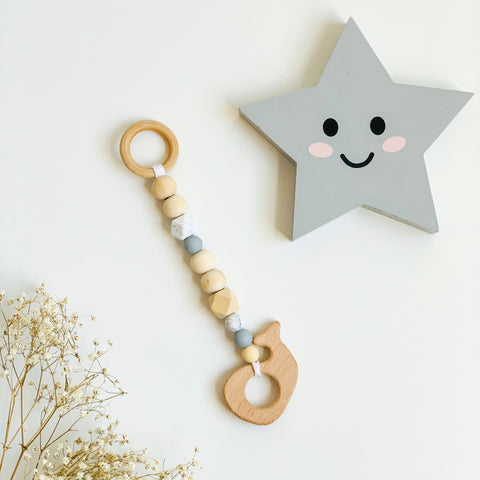 Tittle Whale Wooden Teething Toy