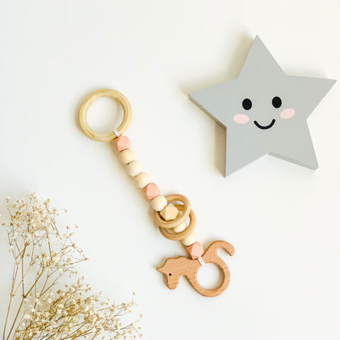 Little Sea Horse Wooden Teething Toy
