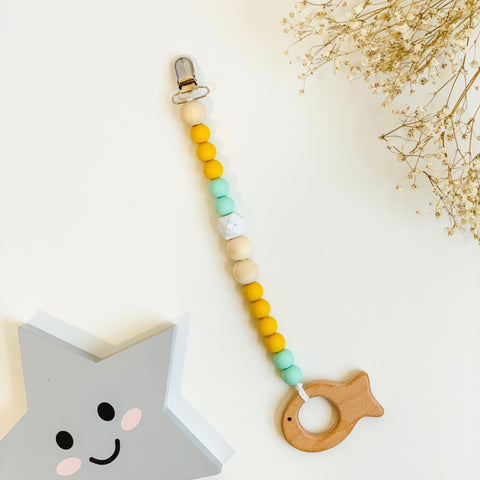 Little Fish Clip Wooden Teething Toy