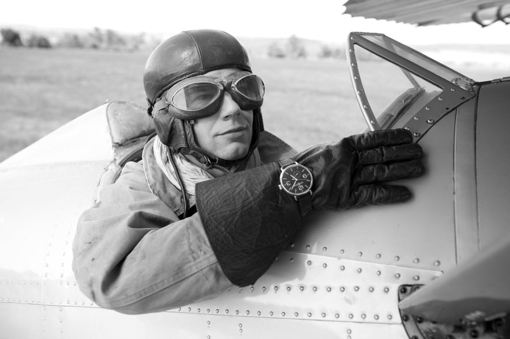 Guy Flying Airplane During WW1 Wearing Bell And Ross Credit New York Times