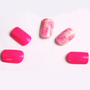 Pink Rose Press-on Nails