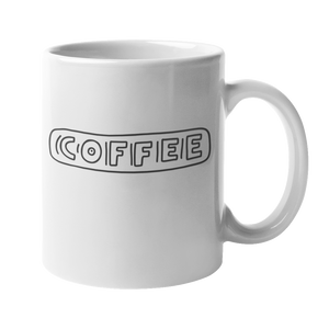 'COFFEE' 10oz White Mug