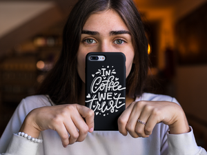 """In Coffee We Trust"" iPhone Case"