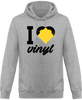 Sweat Shirt à Capuche Homme - I love Vinyl (Hearth vinyl edition)