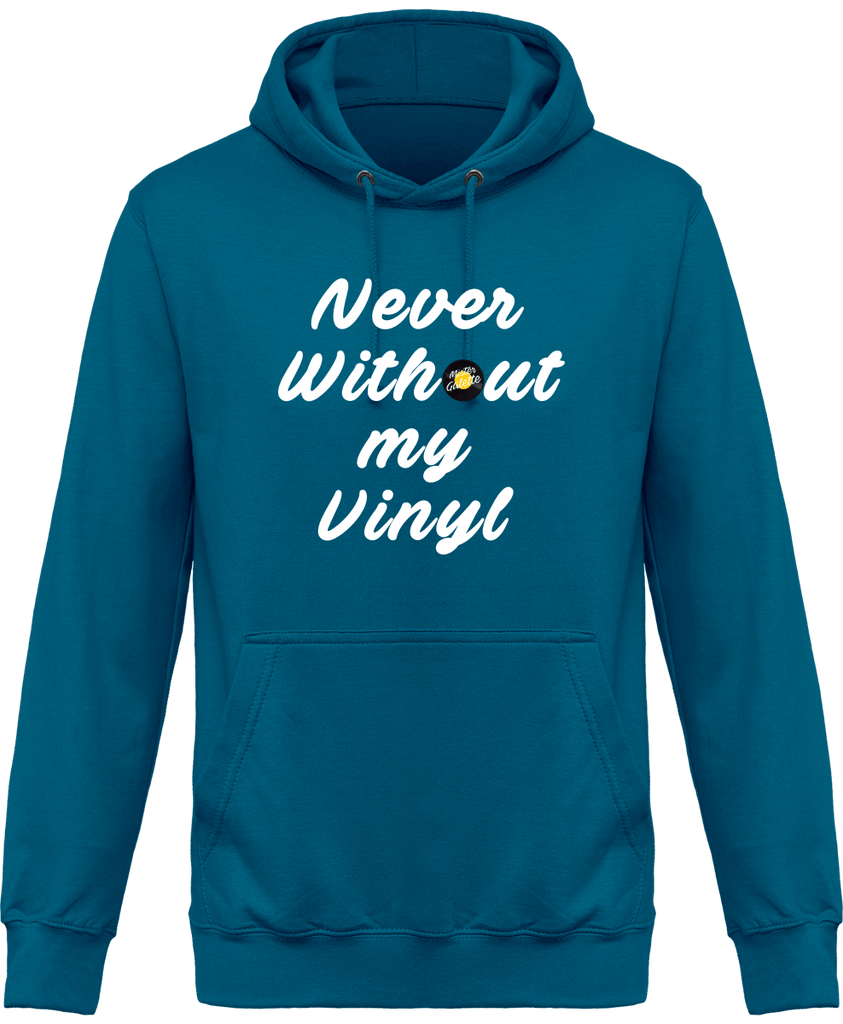 Sweat Shirt à Capuche Homme - Never Without My Vinyl-Mister Galette