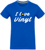 T-shirt Homme Col rond - I Love Vinyl (White version)-Mister Galette