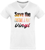 T-shirt Homme Col V - Save The Culture & Play Vinyl-Mister Galette