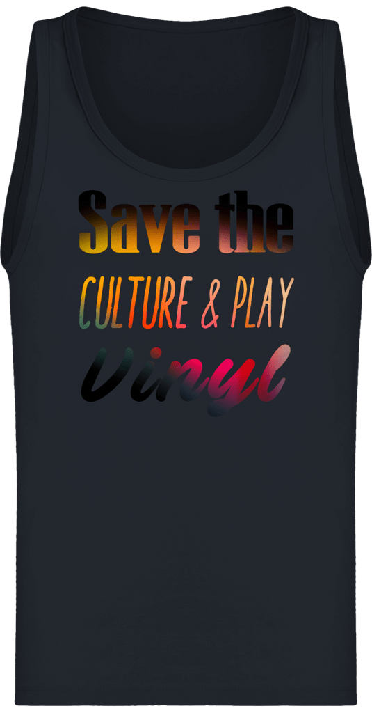 Débardeur Homme Bio - Save The Culture & Play Vinyl-Mister Galette