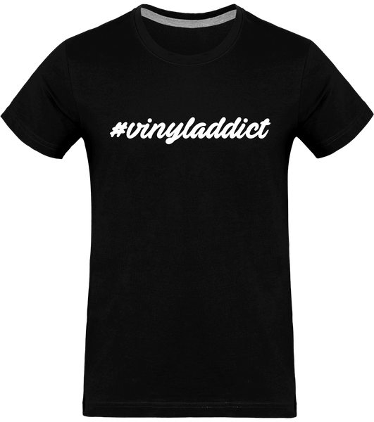 T-shirt Homme Col rond - #vinyladdict (white version)
