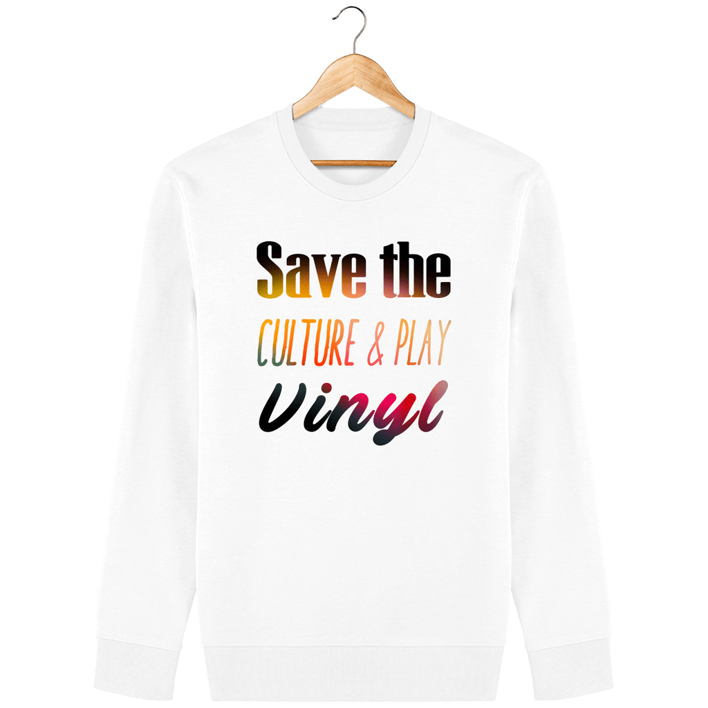 Sweat femme Col rond bio - Save The Culture & Play Vinyl-Mister Galette