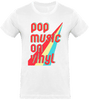 T-shirt Homme Col rond - Pop Music On Vinyl