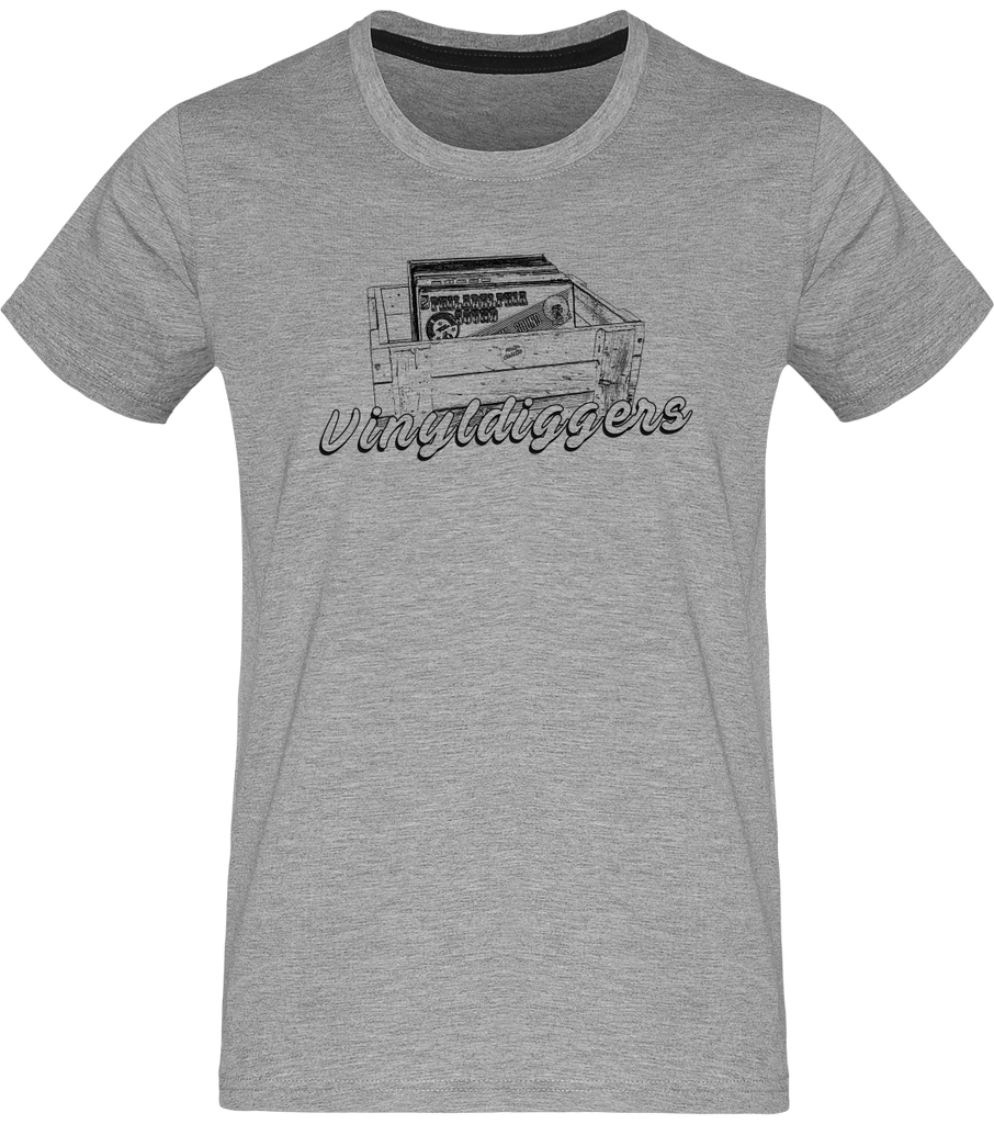 T-shirt Homme Col rond - Vinyldiggers-Mister Galette