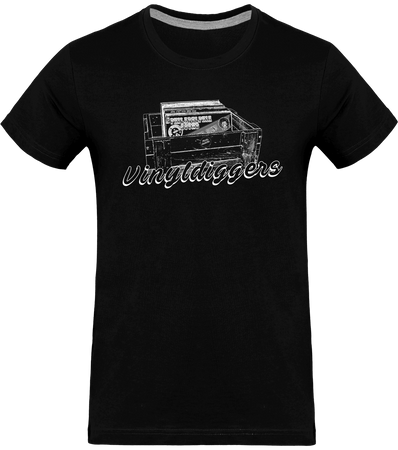 T-shirt homme Col rond - Vinyldiggers (white edition)-Mister Galette