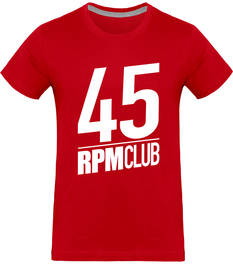 T-shirt Homme Col rond - 45 RPM Club (white)-Mister Galette
