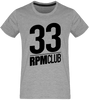 T-shirt Homme Col rond - 33 RPM Club (black)-Mister Galette