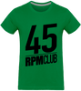 T-shirt Homme Col rond - 45 RPM Club (black)-Mister Galette