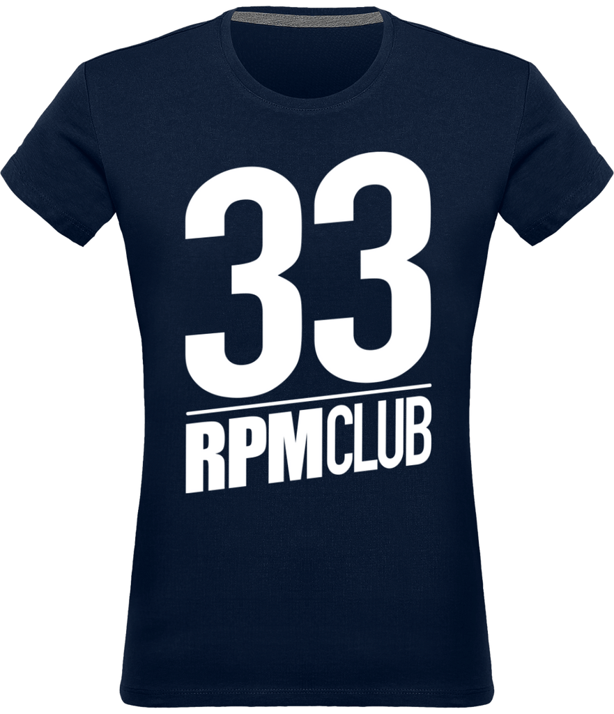 T-shirt Col rond Femme - 33 RPM CLUB (white)-Mister Galette