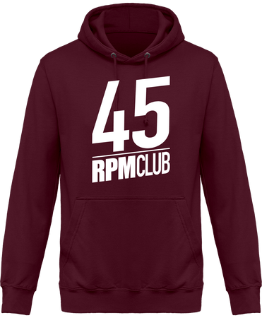 Sweat Shirt à Capuche Homme - 45 RPM CLUB (white)-Mister Galette